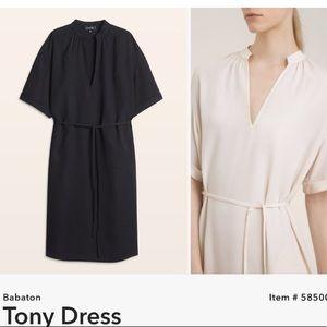 BABATON   Tony Shirt Dress Short Sleeve Black